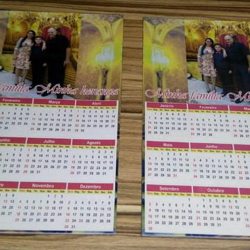 imã calendario com foto