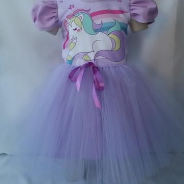 6e12c072b2 Vestido Infantil Festa Fantasia Unicornio Bailarina