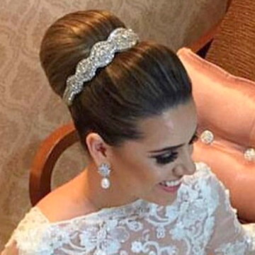 Tiara bordada de Noiva