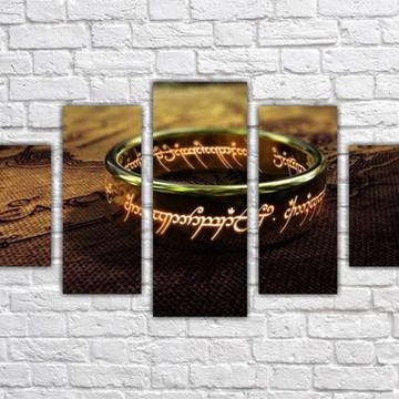 Quadro Decorativo Senhor Dos Anéis Decorar Com 5 peças 0001
