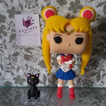 Réplica Funko Pop Sailor Moon e Lua