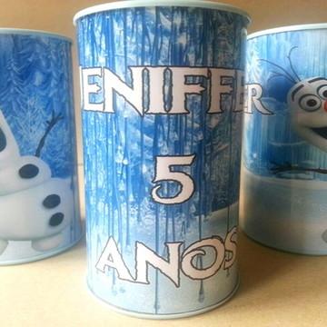 Cofrinho para lembrancinha personalizado Frozen