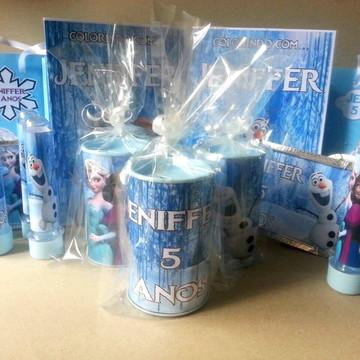 Kit de lembrancinhas personalizadas Frozen