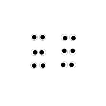 8.002.1'5 Aplique par de olhinhos