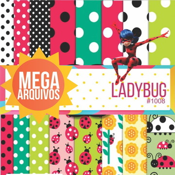 #1008 - Papel digital Lady Bug