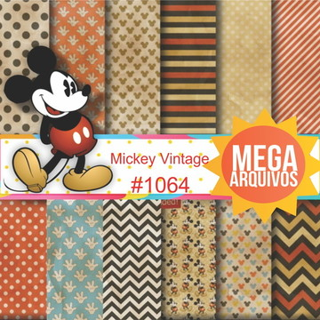 #1064- Papel digital Mickey Vintage