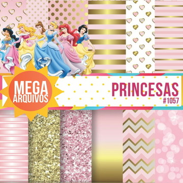 #1057 - Kit Papel digital princesas