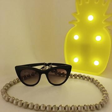 0685fd6bc28b0 Cordinha para Oculos Prata com Cristais