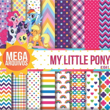 #1041- Papel Digital My little pony
