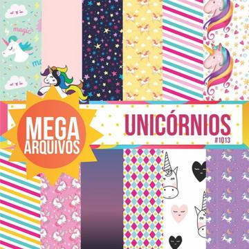 #1013 - Papel Digital Unicornios