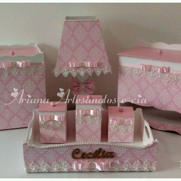 Kit higiene menina rosa