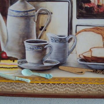 Quadro cafe da manha decoração cozinha