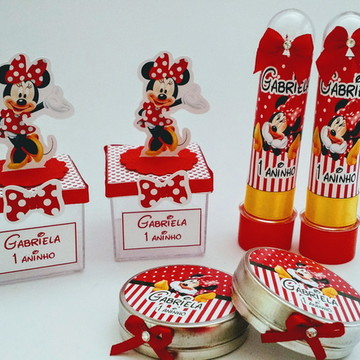 Kit Festa Minnie Vermelha com 45 peças