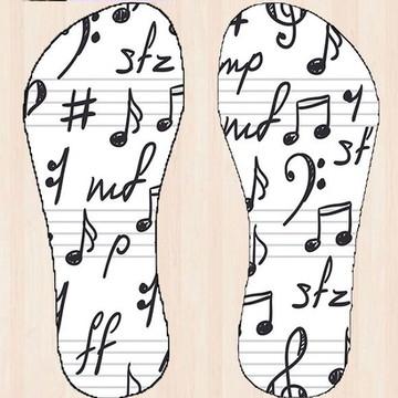 Chinelo Notas Musicais