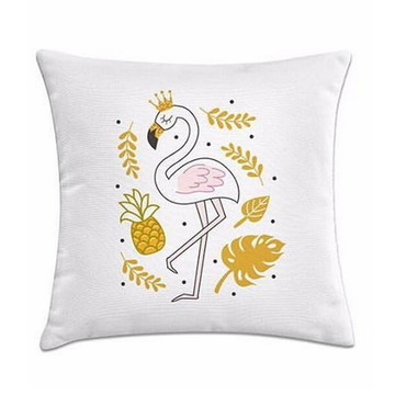 Capa almofada Flamingo dourado