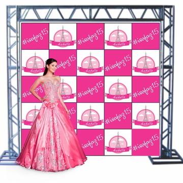 Lona Fosca + Ilhos Impressão Digital Backdrop Fotos 3x3