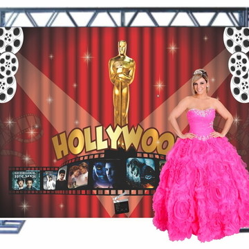 Painel Para Fotos Lona Backdrop Chalkboard 3 x 2m Hollywood