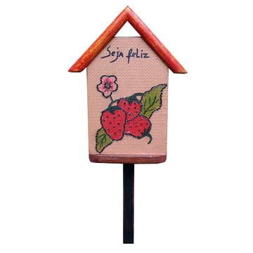 Plaquinha para vaso ou jardim - 'Seja Feliz'