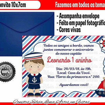 Convite Menino Marinheiro