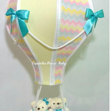 lustre balão pendente infantil chevron gêmeos casal