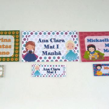 Produtos escolares - Etiquetas