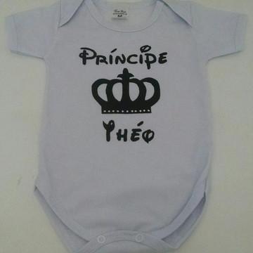 Body personalizado príncipe coroa
