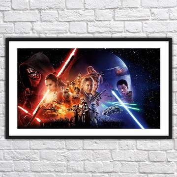 Quadro Decorativo Star Wars Decoração Com Moldura 0019
