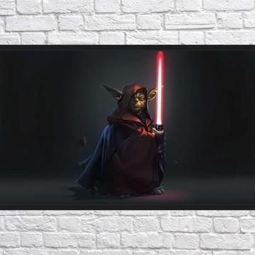 Quadro Decorativo Star Wars Decoração Com Moldura 0023