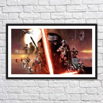 Quadro Decorativo Star Wars Decoração Com Moldura 0025