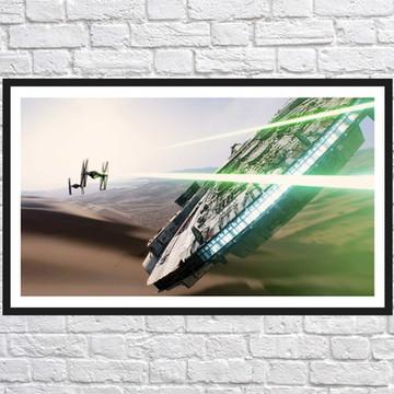 Quadro Decorativo Star Wars Decoração Com Moldura 0027