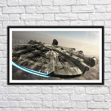 Quadro Decorativo Star Wars Decoração Com Moldura 0028