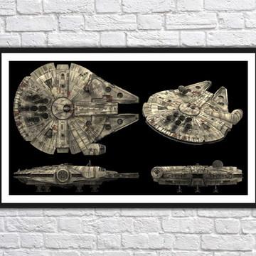 Quadro Decorativo Star Wars Decoração Com Moldura 0029