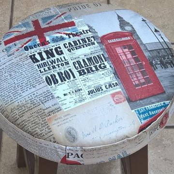 Capa Londres para Banqueta/Banco com Espuma