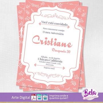 Convite Digital Aniversário Rose