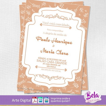 Convite Digital Casamento Elegante II