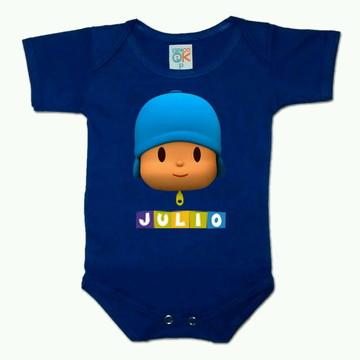 Body p/ Bebê Pocoyo Personalizado