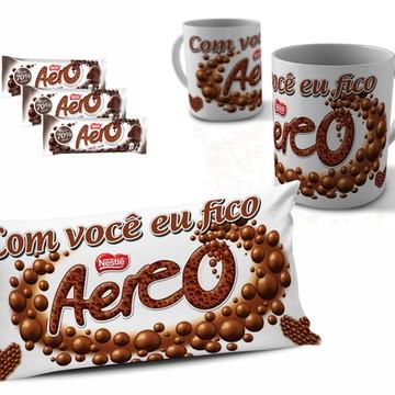 Kit Páscoa Almofada e Caneca Chocolate Aero
