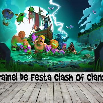 Painel de Festa Clash Of Clans