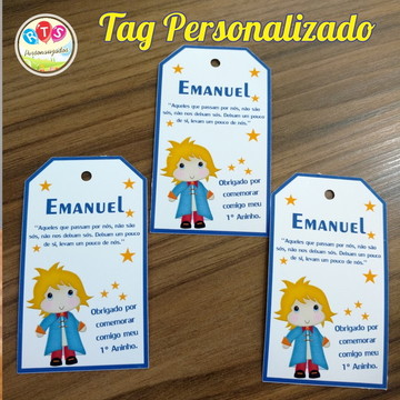 Tags Personalizados pequeno principe