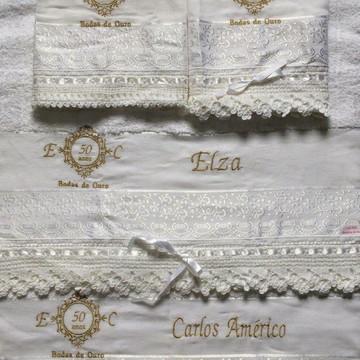 Jogo de toalhas casal bodas