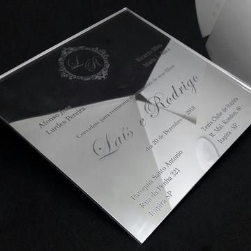 Convite Espelhado - Prateado