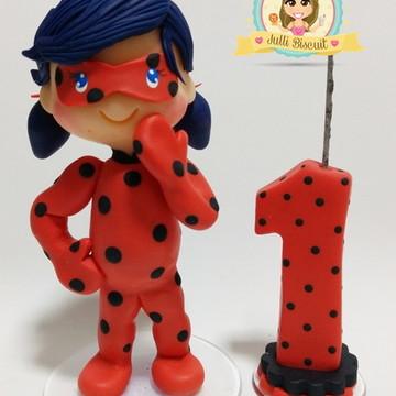 Lady Bug -Topo de Bolo