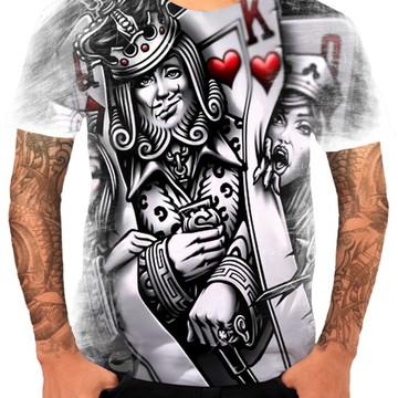 9bdbc07de Camiseta Camisa Personalizada Cartas Rei Rainhas Full Hd 01