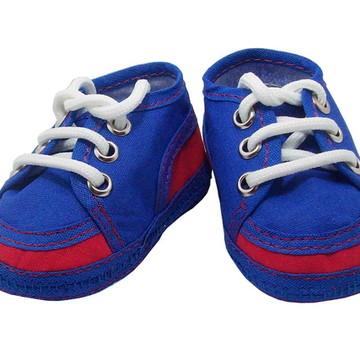 Sapatinho de bebê Tênis Azul e Vermelho