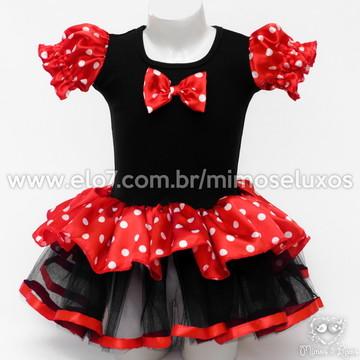 Vestido Minnie vermelha