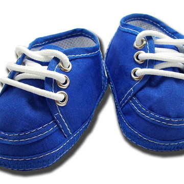 Sapatinho de bebê Tênis Azul Royal