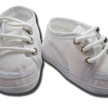 Sapatinho de bebê Tênis Branco