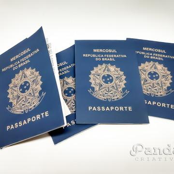 Convite Passaporte Criativo para Casamento