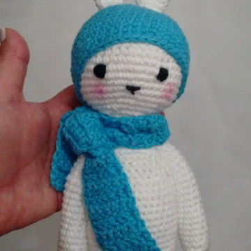 Coelho Cachecol Crochet - Amigurumi