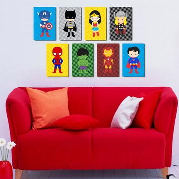 8 Quadros Heróis Baby